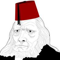 billede af Grundtvig med fez