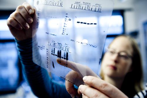 Transparent med DNA-oplysninger